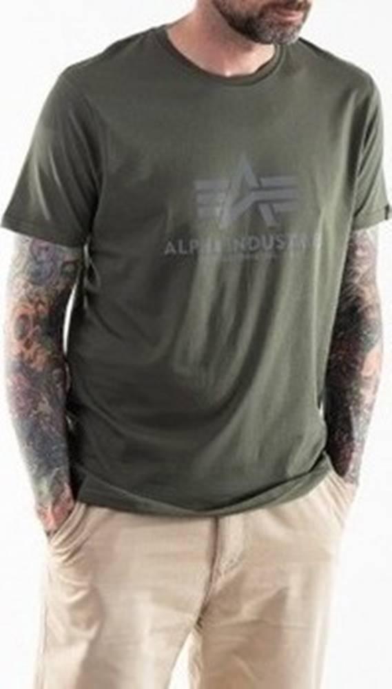 Alpha Trička s krátkým rukávem Basic T-shirt Reflective Print Zelená