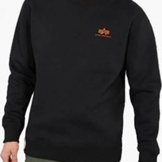 Mikiny Basic Sweater Small Logo Neon Print Černá
