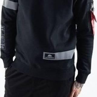 Mikiny Reflective Stripes Sweater Černá