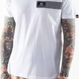Trička s krátkým rukávem Reflective Stripes T Bílá