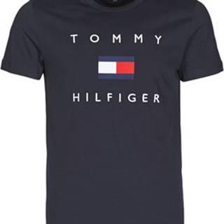Trička s krátkým rukávem TOMMY FLAG HILFIGER TEE Modrá