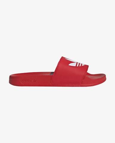Červené pantofle adidas originals
