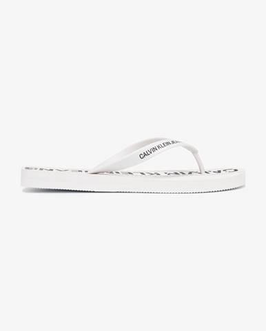 Bílé pantofle Calvin Klein