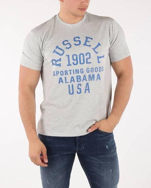 Šedé tričko Russell Athletic