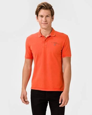Oranžové tričko Napapijri