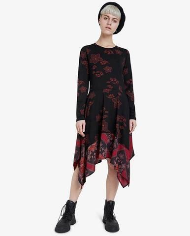 Černá červená sukně desigual