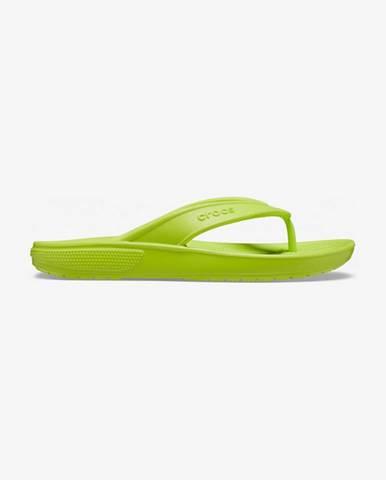 Zelené pantofle crocs