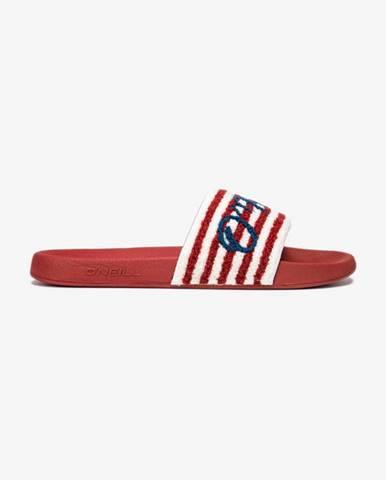 Červené pantofle o'neill