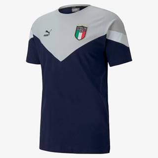 Italia Figc Iconic Triko Modrá