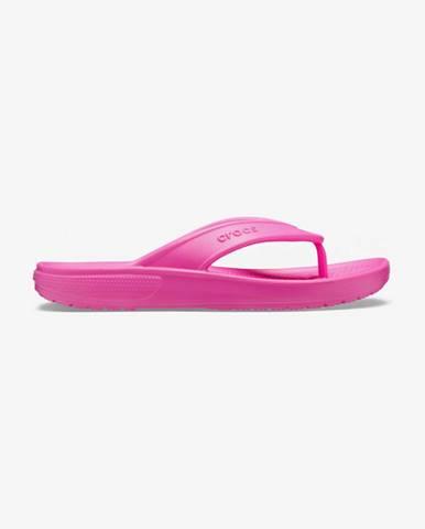 Růžové pantofle crocs
