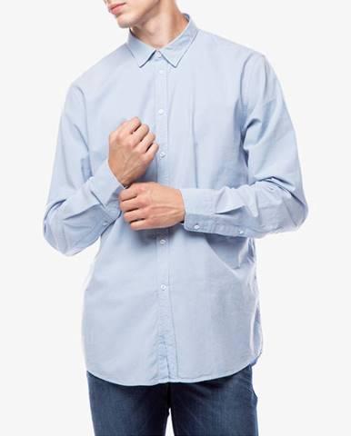 Modrá košile Trussardi Jeans