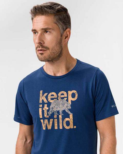 Modré tričko columbia