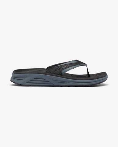 Černé pantofle columbia