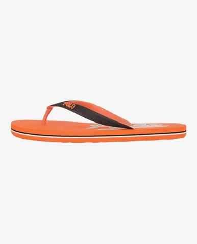 Oranžové pantofle Polo Ralph Lauren
