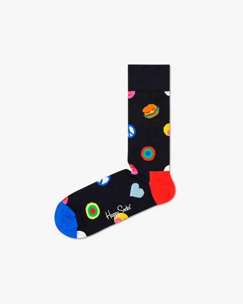 happy socks Symbol Dot Ponožky Černá