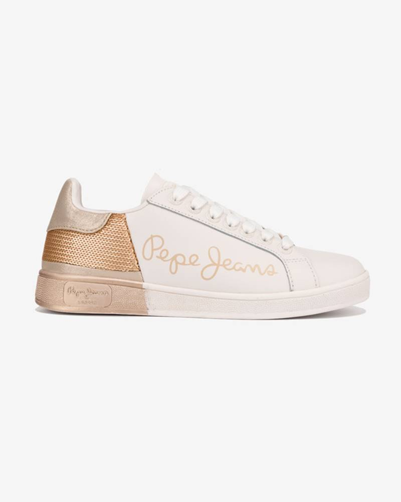 pepe jeans Brompton Tenisky Bílá Zlatá