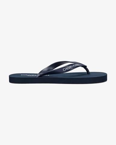 Modré pantofle Calvin Klein