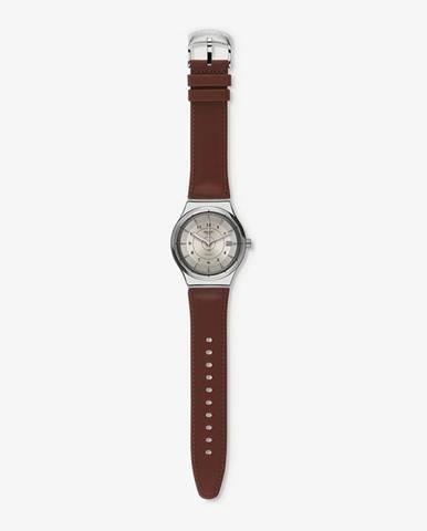Hnědé hodinky Swatch