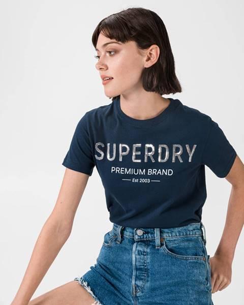 Modrý top superdry