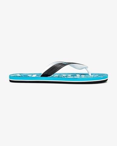 Modré pantofle superdry