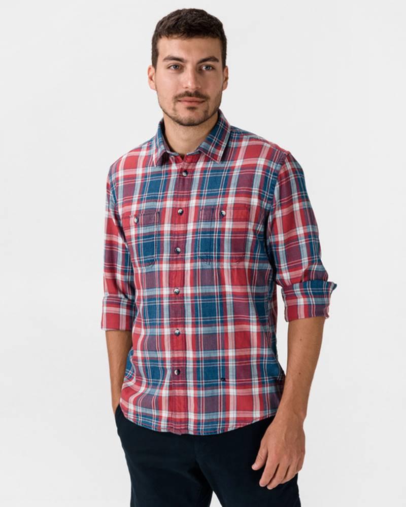 pepe jeans Stanley Košile Modrá Červená