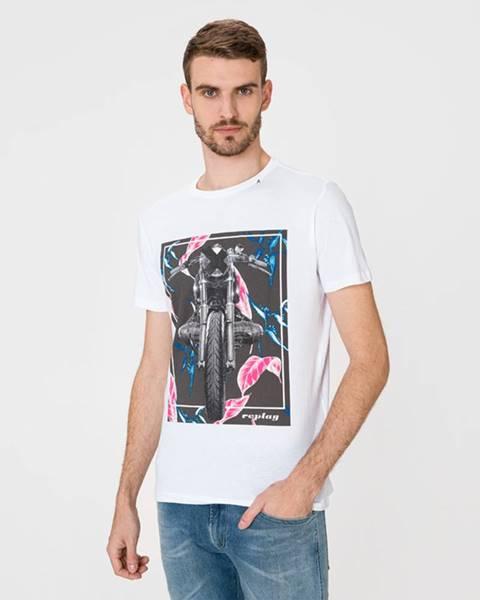 Bílé tričko Replay