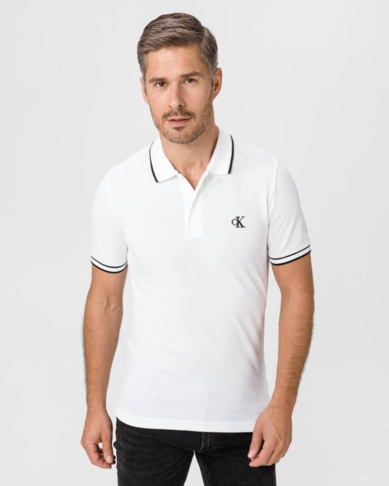Calvin Klein Polo triko Bílá
