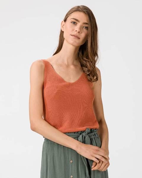 Oranžový top vero moda