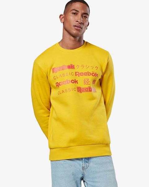 Žlutá mikina reebok classic