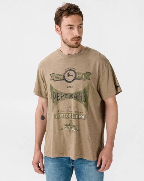Hnědé tričko pepe jeans
