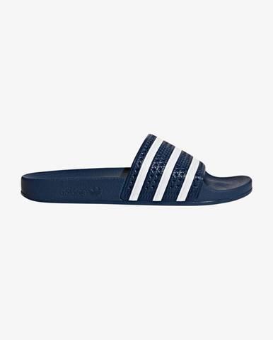 Modré pantofle adidas originals
