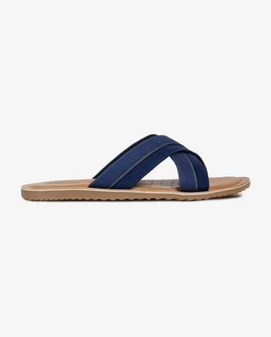 Modré pantofle geox