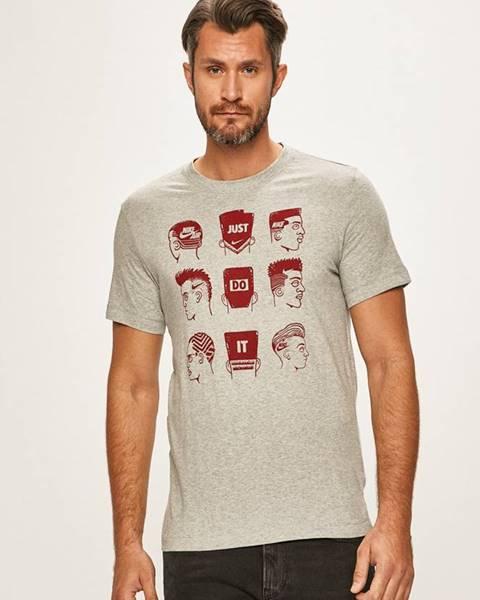 Šedé tričko Nike Sportswear