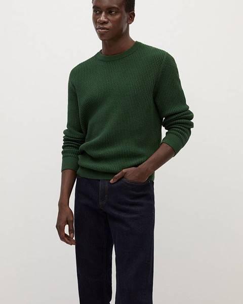 Zelený svetr Mango Man