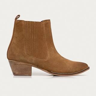 Answear Lab - Semišové kovbojské boty