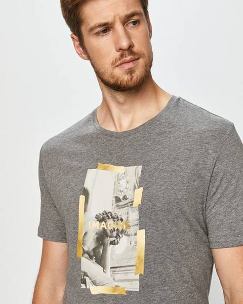 Šedé tričko John Frank