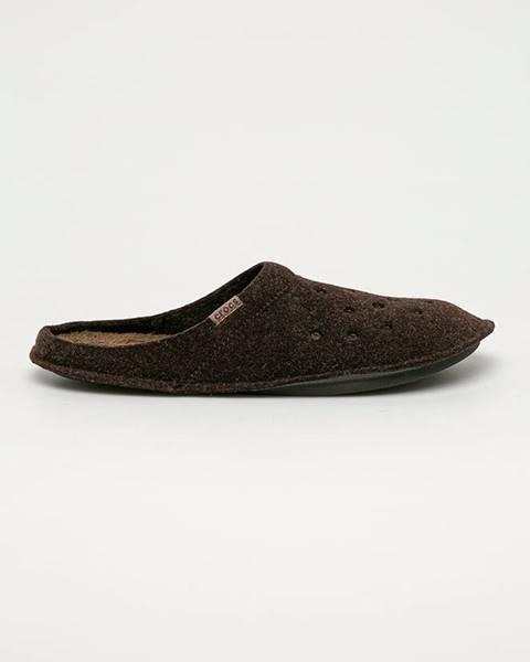 Hnědé boty crocs