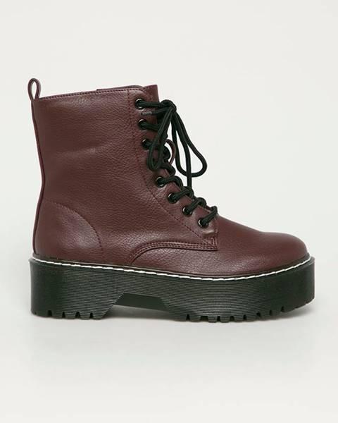 Burgundské boty tally weijl