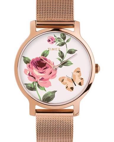 Růžové hodinky Timex