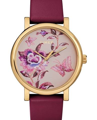 Burgundské hodinky Timex