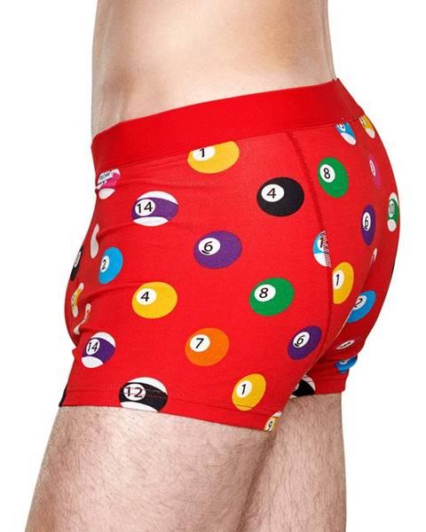 Červené spodní prádlo happy socks