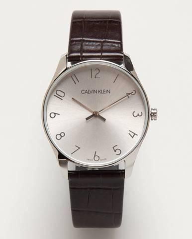 Hnědé hodinky Calvin Klein