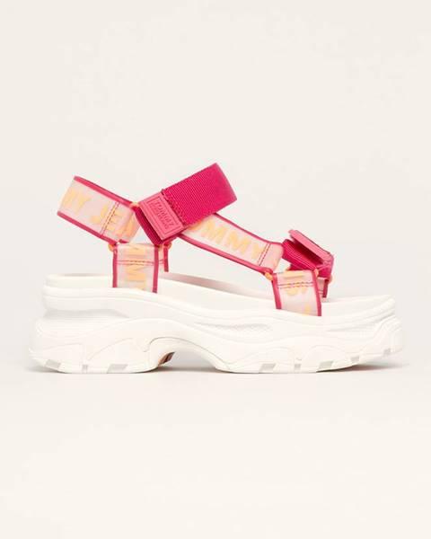 Růžové boty Tommy Jeans