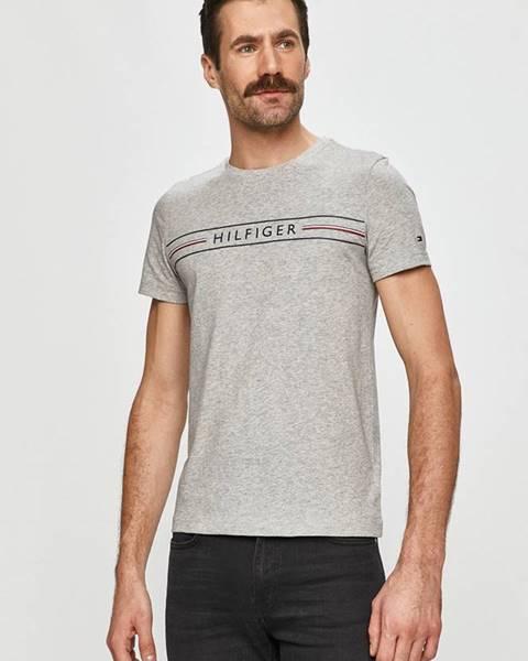 Šedé tričko tommy hilfiger