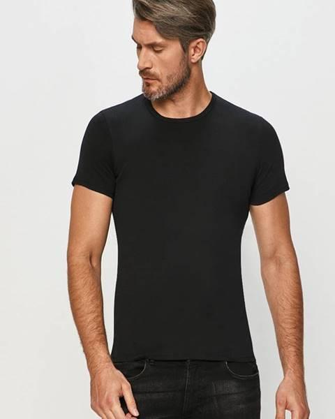 Černé tričko Atlantic