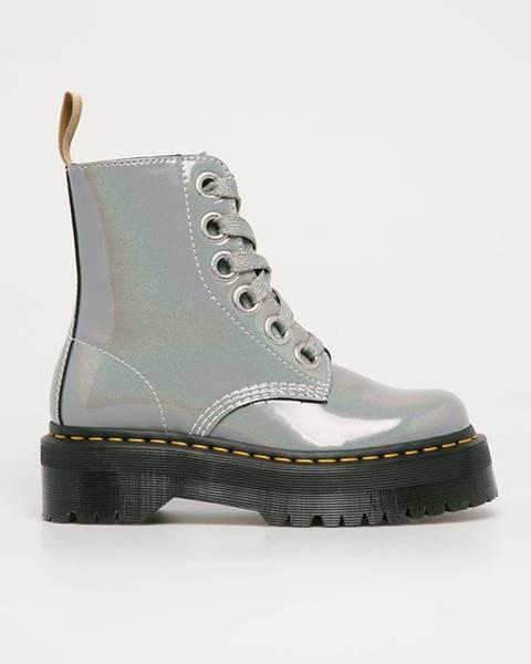 Šedé boty dr. martens