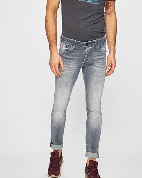 Šedé kalhoty jack & jones