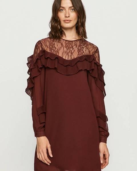 Burgundské šaty Silvian Heach