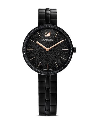 Černé hodinky Swarovski