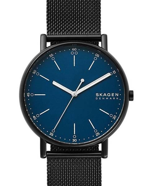 Černé hodinky Skagen